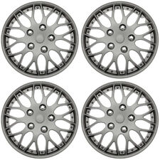 "4 Piece SET Hub Caps MATTE GUNMETAL 16"" Inch Wheel Covers for OEM Rims Cover Cap"