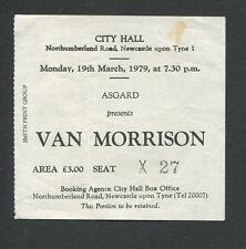 Original 1979 Van Morrison Concert Ticket Stub City Hall Newcastle Wavelength