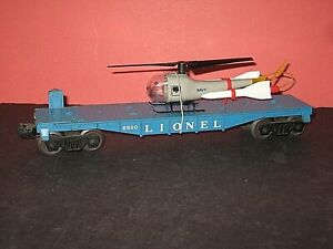 1960 Lionel #6820 Aerial Missile Transport car. w/ Load. No box. C-7+ s/b