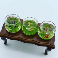 1:12 Glass Bowl For Fish Tank Dollhouse Miniature 1/12 Decor Accessories YK