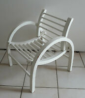 Chaise d'enfant en bois courbé blanc  Vintage  An 80's  école