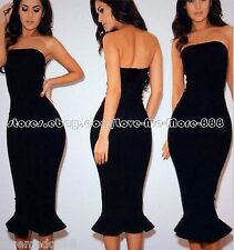 Womens CLUBWEAR PARTY celebrity FISH TAIL STRETCH Slimming Fit Bodycon Dress 2XL
