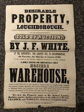 More details for 1849 property auction poster, griffin inn, zachariah onion, loughborough [#32]
