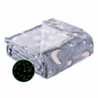 Christmas Birthday Gift Home Textile Luminous Blanket Soft Plush Decorations