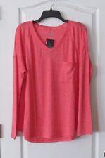 Calvin Klein One Pocket Long Sleeve Shirt PEACH Women's Sz XXL NWT  MSRP$49