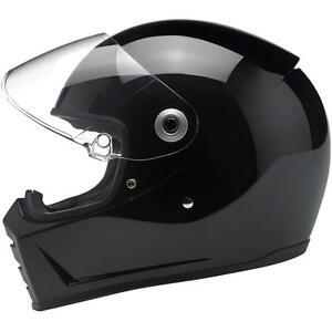 Biltwell Lane Splitter Helmet - Gloss Black - CHOOSE SIZE