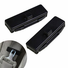 1 Pair Car Auto Seat Belt Adjuster Locking Stopper Safty Aid. Black. UK Supplier