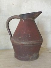 20th Century French Watering Can with Red patina / Ancien Arrosoir Garden Zinc