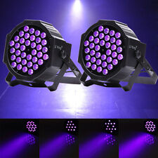2PCS Black 36x LED UV Light DMX Par Can Stage Light Disco Club Bar DJ Lighting