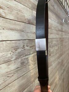 womens COACH black MEDIUM leather    style 8556 buckle belt