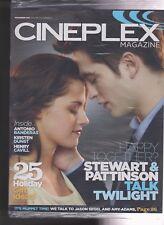 1x Brand New Sealed - Cineplex Magazine November 2011 - Twilight Kristen Stewart