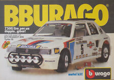 Pubblicità Advertising Werbung Italian 1987 BBURAGO KIT PEUGEOT 205 TURBO 16