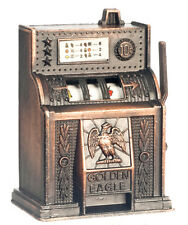 Dollhouse Miniature - Slot Machine Die-Cast Metal Antique Finish