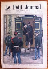 Le petit Journal 26/11/1899; M. Déroulède en voiture Cellulaire