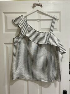 Florence And Fred Sleeveless Linen Top  Size 16