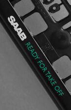 2 x SAAB Euro License Number Plate Frame Holder Tag Mount