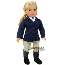 """Navy Horse Riding Habit Set for 18"""" American Girl Doll Best Selection  Lovvbugg!"""