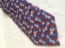 Mens Blue Red Gray Tie Necktie HICKOK ~ FREE US SHIP (7274)