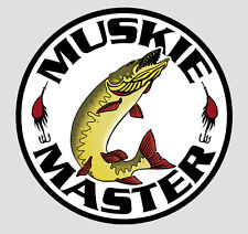"Muskie Master Window Decal 4""  #MI02"