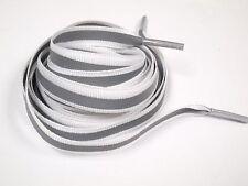 "45"" 112cm 3M Reflective Flat shoelaces 4M running Athletic Safety White"