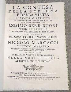 La contesa della fortuna e della virtù cantata a due voci intermedia ad una pubb
