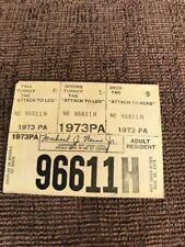 1973 PA Pennsylvania Resident Hunting License Paper Cardboard