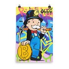 Alec Monopoly Picture Print Mr Monopoly Bitcoin Mining Poster Art For Wall