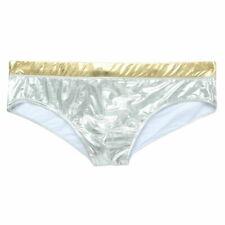 Men Nylon Spandex Swimwear Sexy Low-rise Bikini Shinny Swimming Brief Swimsuit