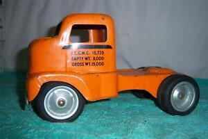 """Tonka Allied Van Lines Truck Cab 1953 # 400 Press Steel First Year Toy 9 1/2 """" L"""