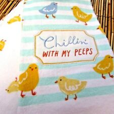 Chillin' With My Peeps Spring Chicks Decorative Kitchen Towel 2 Pack Easter