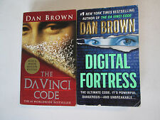 DAN BROWN LOT OF 2 PAPERBACKS The Da Vinci Code & Digital Fortress Books Novels