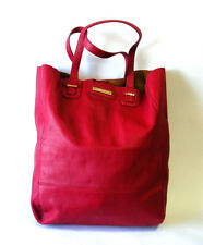 colette hayman TOTE ~ Red Faux Leather ~ Pre-Owned ~ Practically Like New