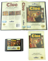 Clue SEGA Genesis Game w/ Clamshell Case & Manual (TESTED; CLEAN CONTACTS)