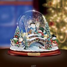 The Thomas Kinkade Winterland Snow Globe Table Christmas Decor Snowman