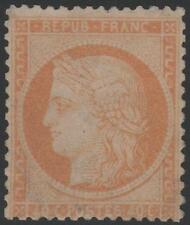 "FRANCE STAMP TIMBRE N° 38 b "" CERES 40c SIEGE DE PARIS ORANGE TERNE "" NEUF xx TB"