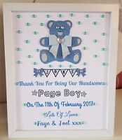 Personalised PAGE BOY wedding teddy bear thank you gift allted15