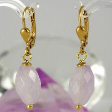 Ohrringe in 375/- Gelbgold mit 2 Lavendel Amethyst Edelsteinen