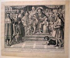 Eau forte de K.G Amling, Scène à la cour de Bavière
