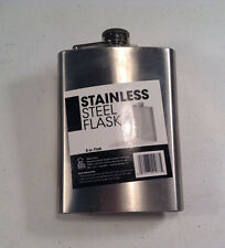 1-8 oz Portable Stainless Steel Liquor Whiskey Alcohol Flask-New-tailgate