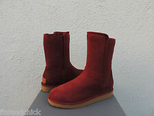 UGG COLLECTION ABREE SHORT RUST SUEDE SHEARLING BOOTS, US 7/ EUR 38  ~ NEW