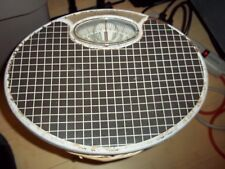 Vintage Counselor Oval Bathroom Scale 300 Lb Capacity Blk White Checkerboard