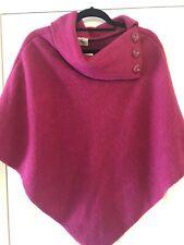 Vera Tucci Raspberry Wool Poncho BNWT