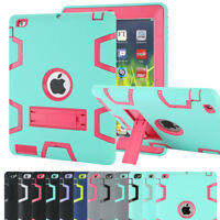 Shockproof Heavy Duty Rubber Hard Back Case Cover For iPad 234 mini Air Pro 9.7""
