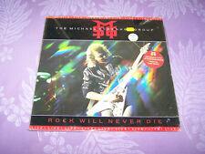 MICHAEL SCHENKER GROUP - ROCK WILL NEVER DIE -Record LP Album- Live 1984 Shrink