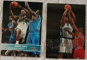 Lot de 2 Cartes Basketball NBA Charlotte Hornets Davis Hoops 2004-05/...