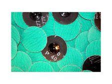 "Roloc Grinding Sanding Disc 3"" 40 Grit Premium Zirconia (ZA) 25pc Green  #716q25"
