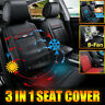 Car Seat Cover Cooling & Warm Heated Cushion Protector Mat Massage W/8Fan 3 In 1
