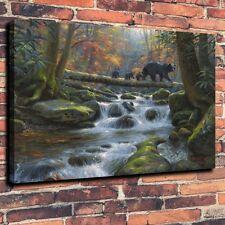 Home Decor Art Quality Canvas Print, Oil Painting Precarious Crossing 12x16