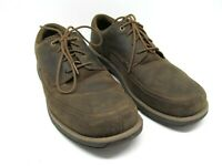 Merrell Select Grip Mens Otter Brown Leather Lace Up Shoes Size US 10.5