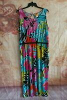 Womens plus size Maxi Dress Size 1X Sleeveless Ruby Rd Summer Vibrant colors